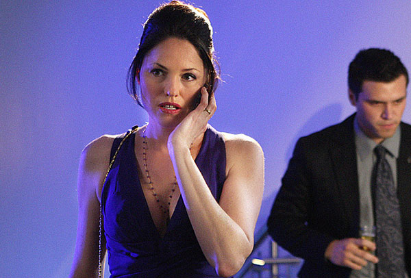 Jorja Fox is pictured in a scene from an episode...