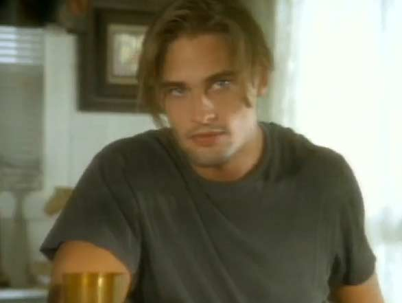 Josh Holloway appeared in Aerosmith&#39;s music video &#39;Cryin,&#39; which was released in 1994. In the video, Holloway plays a man who appears to flirt with the female lead in the video, played by Alicia Silverstone, and then steals her purse when she looks away. Silverstone goes on to kick Holloway to the floor and retrieve her stolen bag. Holloway is now known for his role as Sawyer in the ABC television show &#39;LOST.&#39; <span class=meta>(Geffen Records)</span>