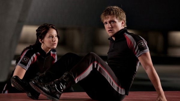 Jennifer Lawrence and Josh Hutcherson appear in scene from the 2012 film 'The Hunger Games.'