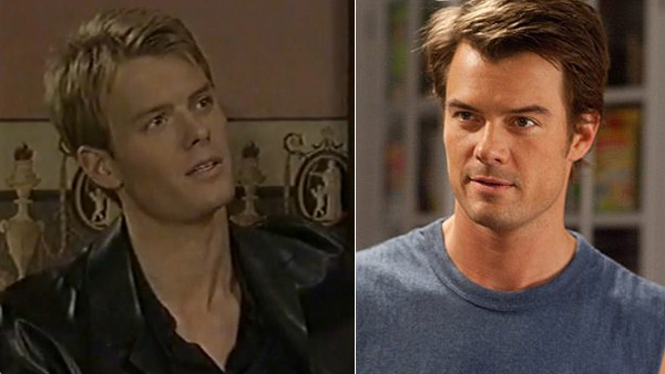 "<div class=""meta ""><span class=""caption-text "">Josh Duhamel, a mostly romantic comedy film actor and husband of singer Fergie, appeared on 'All my Children between 1999 and 2002, playing Leo du Pres. (Pictured: Josh Duhamel appears in a scene from 'All My Children.' / Josh Duhamel appears in a scene from the 2010 movie 'Live as We Know It'.) (ABC / Warner Bros. Pictures)</span></div>"