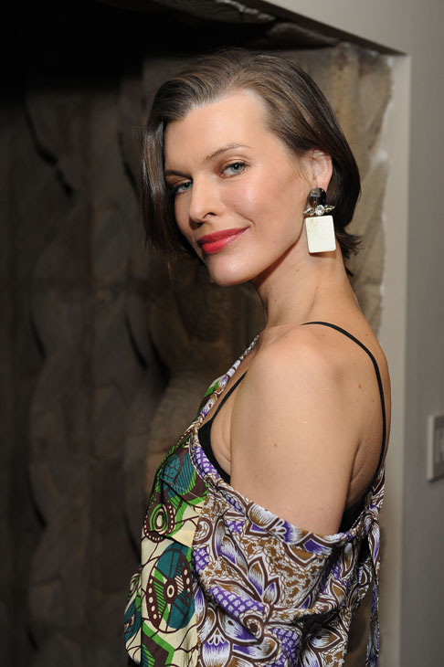 Milla Jovovich appears at the launch party for H and M&#39;s Marni collection in Los Angeles on Feb. 17, 2012. She is wearing an outfit from the fashion line. <span class=meta>(H and M &#47; Marni)</span>