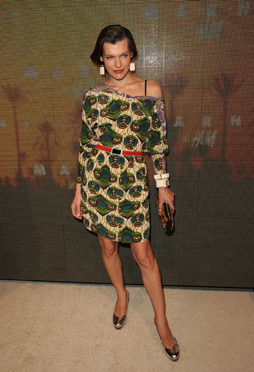 Milla Jovovich appears at the launch party for H...