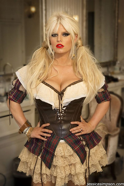 Jessica Simpson posted this photo of herself in her Halloween costume on her official website on Oct. 31, 2012.