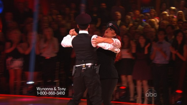 Singer Wynonna Judd and her partner Tony Dovolani received 18 out of 30 points from the judges for their Quickstep routine on week 2 of &#39;Dancing With The Stars,&#39; which aired on March 25, 2013. They received a total of 36 out of 60 points for the past two weeks of performances. <span class=meta>(ABC Photo)</span>