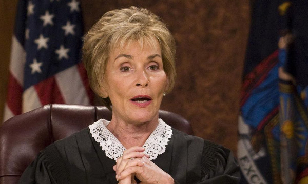 Judge Judy appears in a scene from her popular court show 'Judge Judy.'
