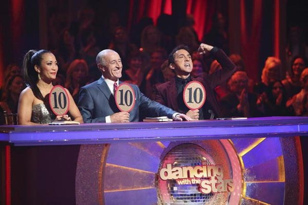 The judges give their scores on 'Dancing With The Stars: All-Stars,' which aired on November 12, 2012.