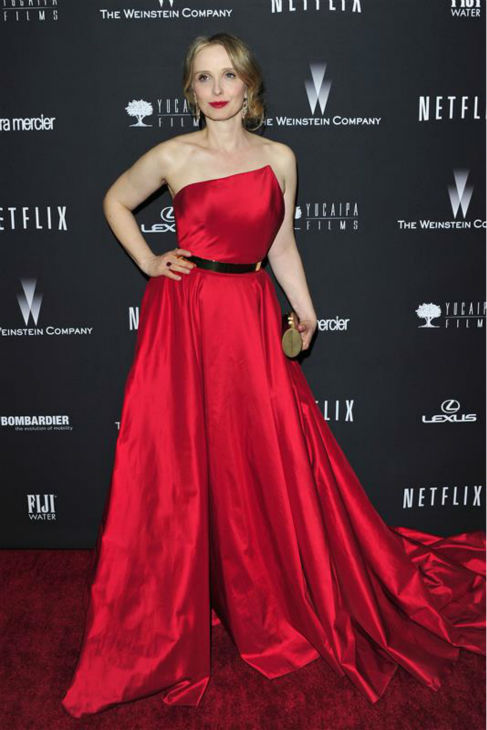 Julie Delpy &#40;&#39;Before Midnight,&#39; &#39;Before Sunset,&#39; &#39;Before Sunrise&#39;&#41; appears at the Weinstein Company&#39;s and Netflix&#39;s 2014 Golden Globe Awards after party at the Beverly Hilton hotel in Beverly Hills, California on Jan. 12, 2014. <span class=meta>(Kyle Rover &#47; Startraksphoto.com)</span>