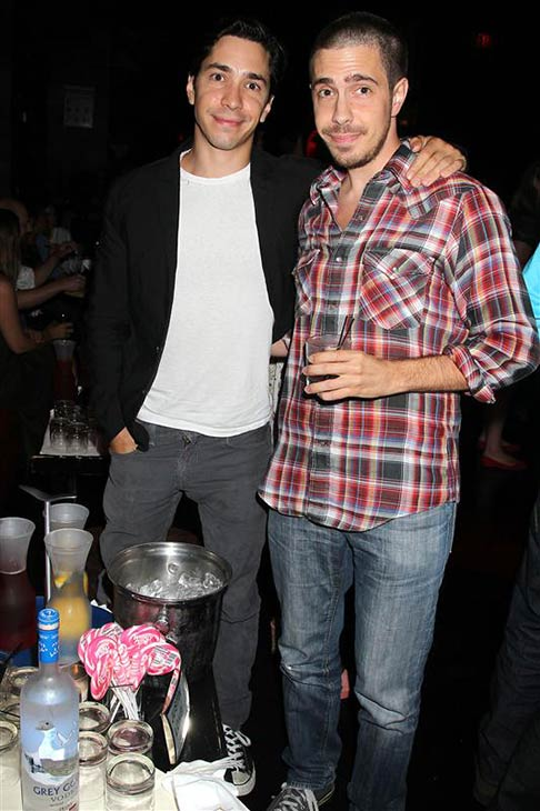 Actor Justin Long and brother Christian Long appears at an after party for a screening of the movie &#39;For a Good Time, Call...&#39; in New York on Aug. 21, 2012. <span class=meta>(Dave Allocca &#47; Startraksphoto.com)</span>