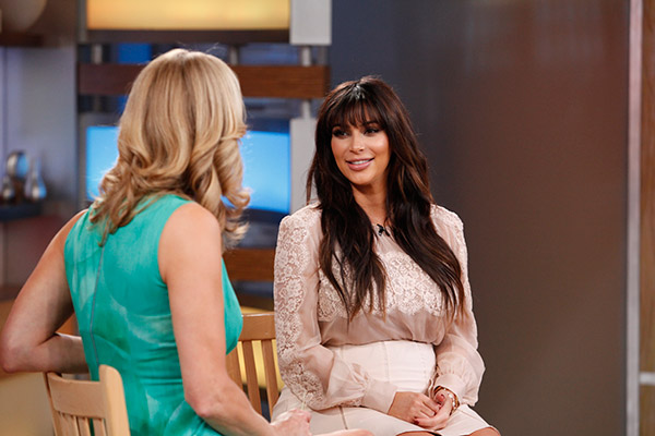 Kim Kardashian is interviewed by Lara Spencer on ABC's 'Good Morning America' on March 26, 2013.