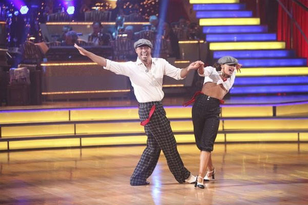 &#39;All My Children&#39; actor and Iraq War veteran J.R. Martinez and his partner Karina Smirnoff received  28 out of 30 for their favorite dance, a Jive from week 2 on &#39;Dancing With The Stars: The Results Show&#39; on Tuesday, November 22. <span class=meta>(ABC &#47; Adam Taylor)</span>