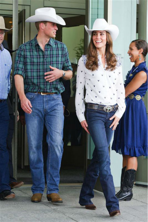 The time Kate Middleton and Prince William wore cowboy hats during a visit to the Rodeo at the BMO Convention Center in Calgary on July 7, 2011. <span class=meta>(CHH &#47; Startraksphoto.com)</span>