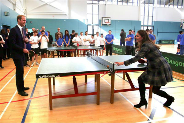 The time Kate Middleton showed us her ping pong skills at the Emirates Arena in Glasgow in Scotland, UK on April 4, 2013. Pictured on the right is her husband, Prince William. <span class=meta>(Barcroft Media &#47; Startraksphoto.com)</span>
