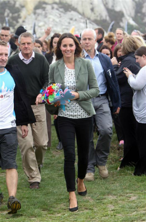 The time Kate Middleton looked like this just a little over a month after giving birth to her and Prince William&#39;s first child, Prince George. She is pictured here at the Ring O&#39;Fire Anglesey Coastal Ultra Marathon in Anglesey, Wales in the UK on Aug. 30, 2013. <span class=meta>(Barcroft Media &#47; Startraksphoto.com)</span>
