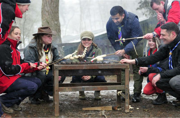 "<div class=""meta ""><span class=""caption-text "">The time Kate Middleton braved freezing temperatures to make bread twists with members of the Great Tower Scout camp in London on March 22, 2013. (Barcroft Media / Startraksphoto.com)</span></div>"