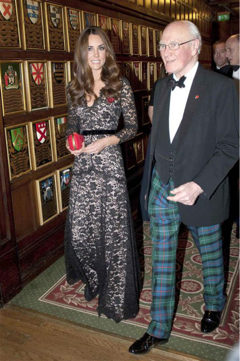 "<div class=""meta image-caption""><div class=""origin-logo origin-image ""><span></span></div><span class=""caption-text"">The time Kate Middleton wore this perfect dress and carried this perfect purse and walked beside this man wearing these perfect pants at a reception benefitting the University of St. Andrews' 600th anniversary on Nov. 8, 2012. AND this is the second time she wore the dress at a public event. (Barcroft Media / Startraksphoto.com)</span></div>"