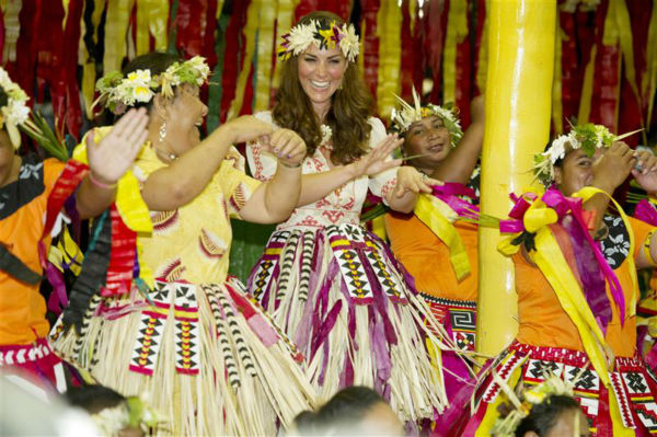 "<div class=""meta ""><span class=""caption-text "">The time Kate Middleton danced during a celebration on Tavanipupu Island in Marau in the Solomon Islands on Sept. 18, 2012. (Barcroft Media / Startraksphoto.com)</span></div>"