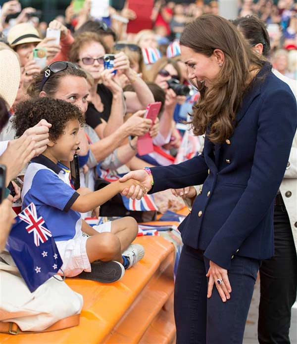 The time Kate Middleton, aka Catherine, Duchess of Cambridge, made this young fan&#39;s day in Auckland, New Zealand during her and Prince William&#39;s visit on April 11, 2014. <span class=meta>(Tim Rooke &#47; REX &#47; Startraksphoto.com)</span>