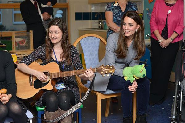 The time Kate Middleton, aka Catherine, Duchess of Cambridge, used a puppet to help entertain child patients at the Shooting Star House Children&#39;s hospice in England on Dec. 6, 2013. <span class=meta>(REX &#47; Startraksphoto.com)</span>