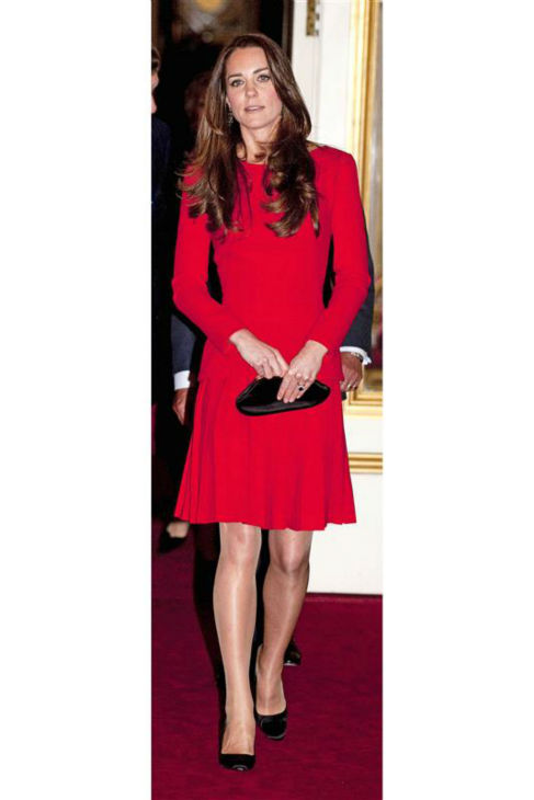 Kate Middleton, aka Kate, Duchess of Cambridge, appears at the Reception for the Dramatic Arts at Buckingham Palace on Feb. 17, 2014. <span class=meta>(Rex Features &#47; Startraksphoto.com)</span>
