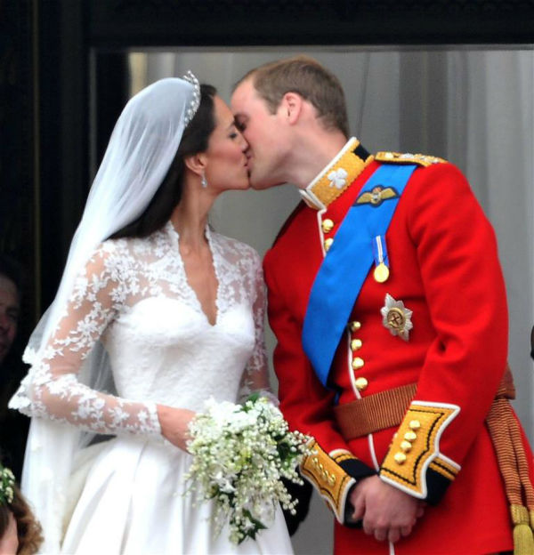 The time Kate Middleton made us believe in love. Here she is kissing her new husband Prince William at their Royal Wedding in London on April 29, 2011. <span class=meta>( Javier Mateo &#47; Startraksphoto.com)</span>