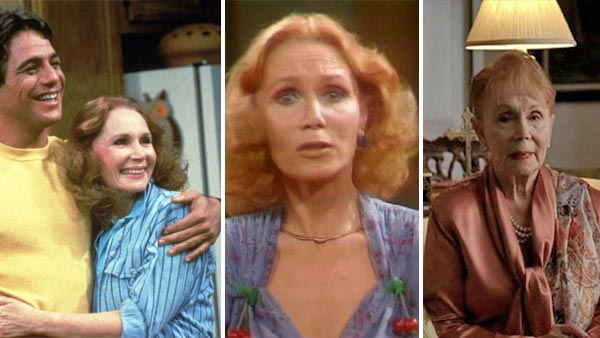 Katherine Helmond turns 84 on July 5, 2012. The actress is known for playing Jessica on the comedic mock soap opera &#39;Soap,&#39; which aired between 1977 and 1981, Mona on the sitcom &#39;Who&#39;s The Boss?&#39; &#40;1984 to 1992&#41;, Doris on &#39;Coach&#39; &#40;1995 to 1997&#41; and Lois on &#39;Everybody Loves Raymond&#39; &#40;1996 to 2004&#41;. She also provides the voice of Lizzie in Disney-Pixar&#39;s &#39;Cars&#39; animated films and guest starred on the HBO show &#39;True Blood&#39; in 2011.  &#40;Pictured: L-R: Katherine Helmond appears in scenes from the shows &#39;Who&#39;s The Boss?&#39; &#40;with Tony Danza&#41;, &#39;Soap&#39; and &#39;True Blood.&#39;&#41; <span class=meta>(ABC &#47; Witt&#47;Thomas&#47;Harris Productions &#47; HBO)</span>