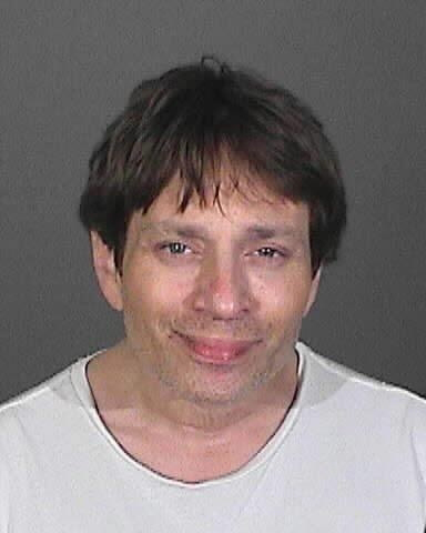 Chris Kattan of &#39;SNL&#39; fame appears in a mug shot taken after he was arrested on suspicion of DUI after crashing his car on a freeway near Los Angeles on Feb. 10, 2014. <span class=meta>(California Highway Patrol)</span>