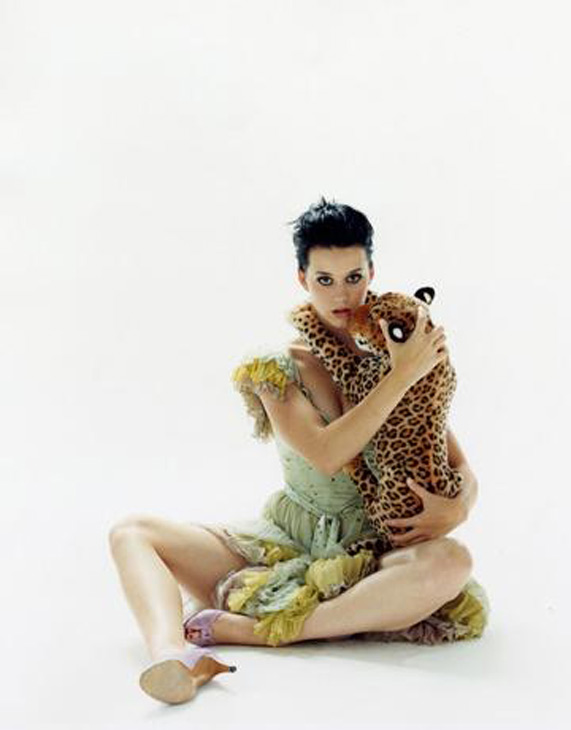 In 2009 while working on a magazine shoot, Katy Perry had a chimp on set, which peed all over her and forced her to take a shower in the middle of the shoot.  <span class=meta>(Photo courtesy of myspace.com&#47;katyperry)</span>