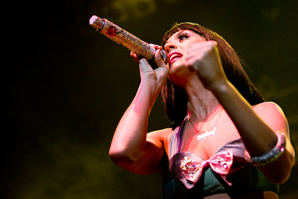 Katy Perry&#39;s parents had contacts in the gospel recording industry in Nashville.  Perry began her music career singing Christian pop.  <span class=meta>(Photo courtesy of Jose Goulao)</span>