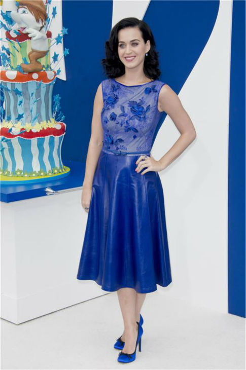 Katy Perry attends the premiere of &#39;The Smurfs 2&#39; at the Regency Village Theatre in Westwood, near Los Angeles, on July 28, 2013. <span class=meta>(Lionel Hahn &#47; Abacausa &#47; startraksphoto.com)</span>