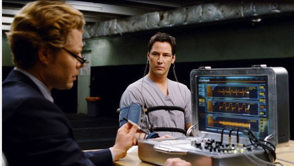 Keanu Reeves appears in a scene from the 2008 film 'The Day the Earth Stood Still.'
