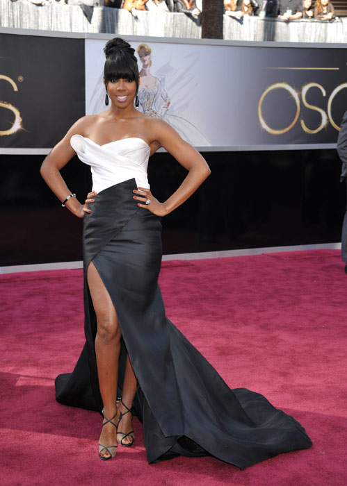 Singer Kelly Rowland arrives at the 85th Academy...