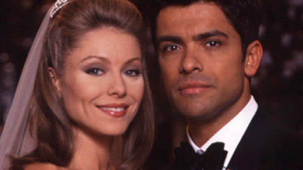 "<div class=""meta ""><span class=""caption-text "">Kelly Ripa of the ABC daytime morning show 'LIVE! with Regis and Kelly' played Hayley Vaughan on 'All My Children' between 1990 and 2002 and reprised her role in 2010. Mark Consuelos played her character's love interest, Mateo, from 1995 to 2010. The two married in real life in 1996 and have three children. (ABC)</span></div>"