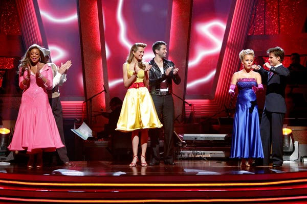 "<div class=""meta ""><span class=""caption-text "">Kendra Wilkinson and her partner Louis van Amstel react to being safe from elimination. The couple received 19 out of 30 from the judges for their Quickstep on week 2 of 'Dancing With The Stars' on Monday, March 28, 2011. Combined with the first week scores of 18 out of 30, their total is 37 out of 60. (ABC Photo/ Adam Taylor)</span></div>"