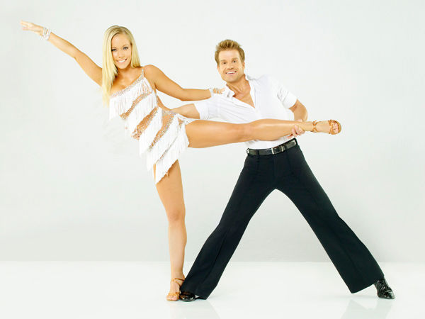 Kendra Wilkinson, star of E!'s hit reality series 'Kendra,' joins Louis Van Amstel, who returns for his eighth season on season 12 of 'Dancing with the Stars,' which premieres on March 21 at 8 p.m.