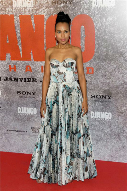 Kerry Washington attends the premiere of &#39;Django Unchained&#39; in Paris on Jan. 7, 2013. <span class=meta>(Nicolas Briquet &#47; Abaca &#47; Startraksphoto.com)</span>