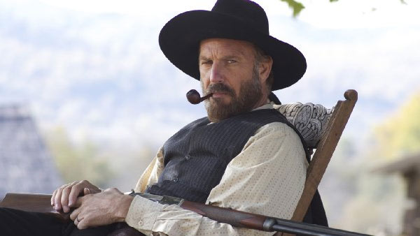 (Pictured: Kevin Costner appears in a scene from the show 'Hatfields & McCoys.')