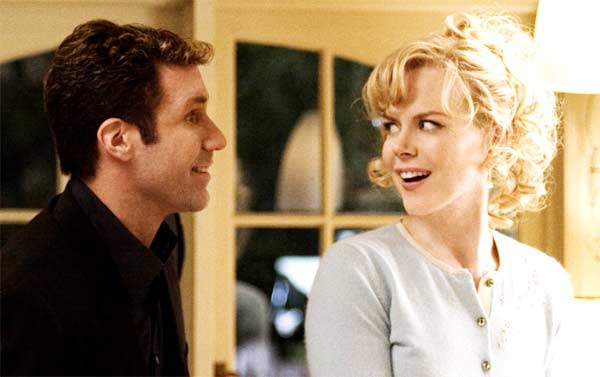 Nicole Kidman appears in a scene from the 2005 film 'Bewitched' alongside co-star Will Ferrell. In the film, Kidman, who plays a real-life witch, is coincidentally cast in a remake of the classic show 'Bewitched' and must deal with a series of obstacles.