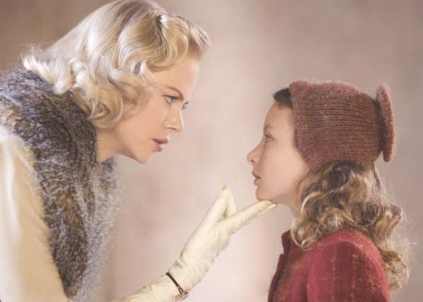 Nicole Kidman appears in a scene from the 2007 film 'The Golden Compass' which takes place in a parallel universe, and includes a child's journey to save her friends.