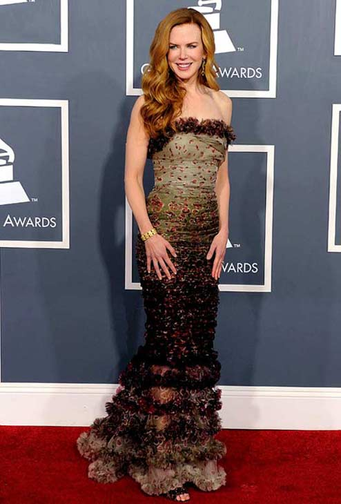Actress Nicole Kidman appears in a photo from the 2011 Grammys in February.