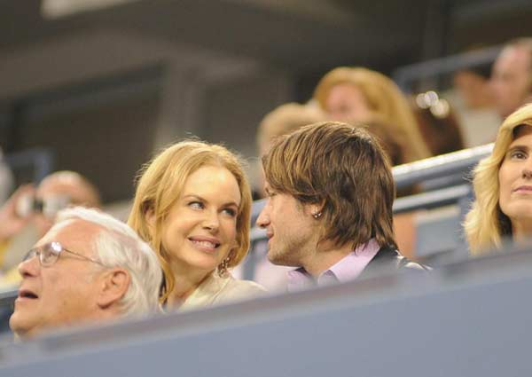 Actress Nicole Kidman and husband Keith Urban...
