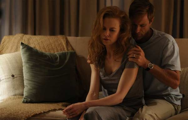 Nicole Kidman appears in a scene from the 2010 film 'Rabbit Hole' alongside co-star Aaron Eckhart. The film depicts the life of a once happy couple after their son dies in an accident.