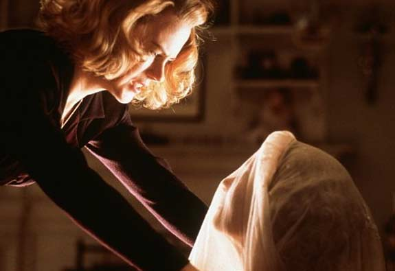 Nicole Kidman appears in a scene from the 2001 film 'The Others' where she plays a woman who lives in home she believes is haunted with her children.