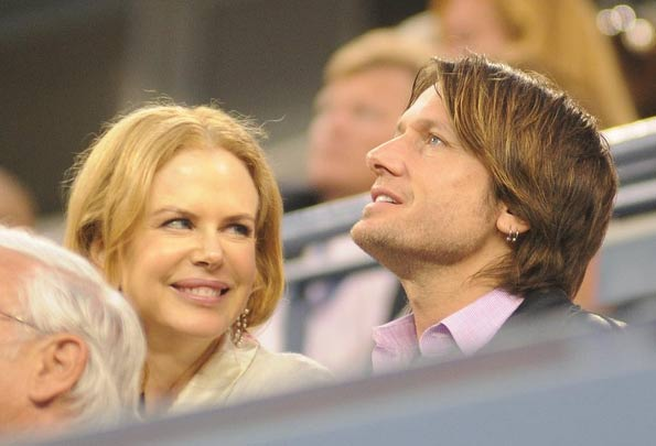 Nicole Kidman and Keith Urban appear in a photo from the U.S. Open's 4th round on Sept. 7, 2009.
