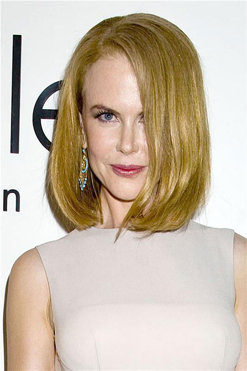 Nicole Kidman appears at the Spring 2014 Calvin Klein Fashion Show during Mercedez-Benz Fashion Week in New York