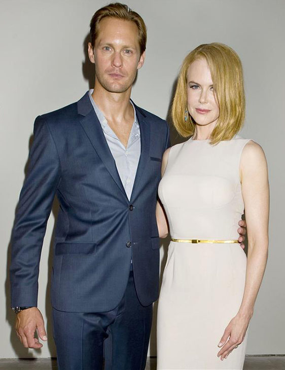 'True Blood' star Alexander Skarsgard appears at the Spring 2014 Calvin Klein Fashion Show during Mercedez-Benz Fashion Week in N
