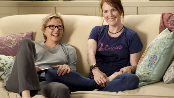 Annette Bening and Julianne Moore appear in a scene from the 2010 movie 'The Kids Are All Right.'