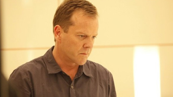 Kiefer Sutherland appears in a photo from the television show '24.'