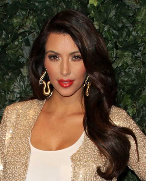 Kim Kardashian appears in a photo from her web site.