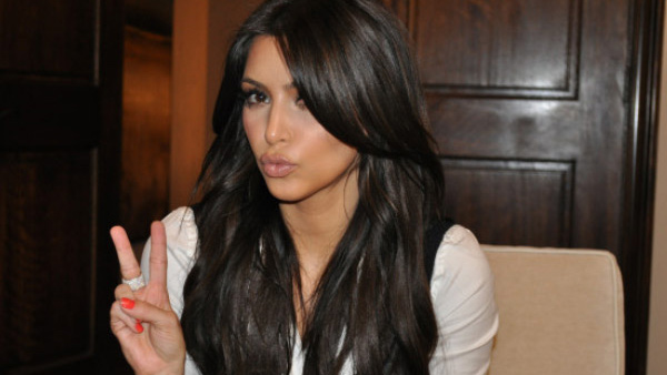 Kim Kardashian appears in a photo from her official Twitter page.