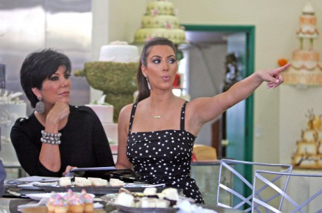 Kim Kardashian and Kris Jenner at Hansen's Cakes in Los Angeles.